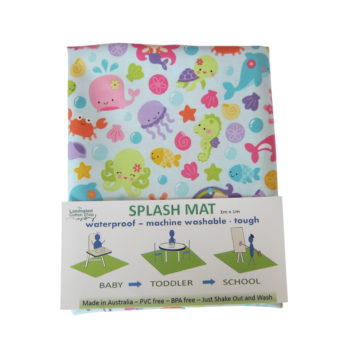 laminated cotton shop splat mat mermaids