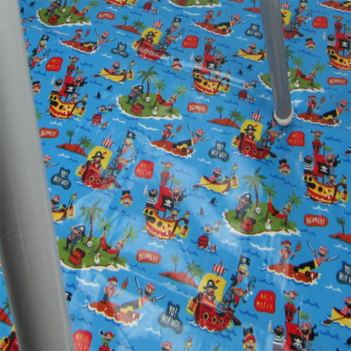pirate mess mat under highchair