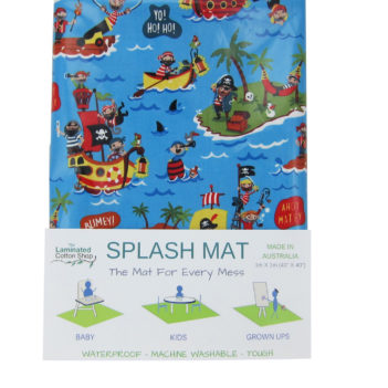 pirate messy mat laminated cotton splat mat