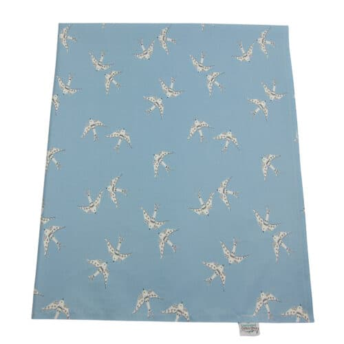 organic cotton baby mat blue birds